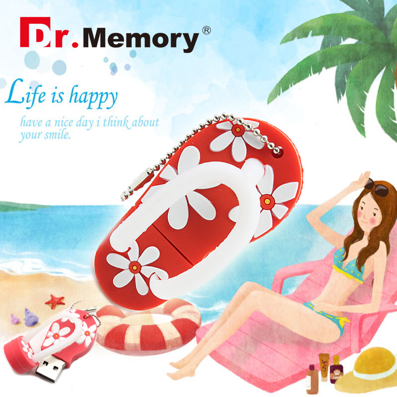 USB Flash Drive 64gb real capacity 32GB pendrive flip flops shoes 16GB girl sandals personality gift 8GB pen drive flower 4GB(China (Mainland))