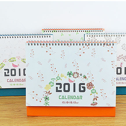 New Brand 2015 2016 Calendar 6 styles Office School Supplies Calendars with Sticker(China (Mainland))