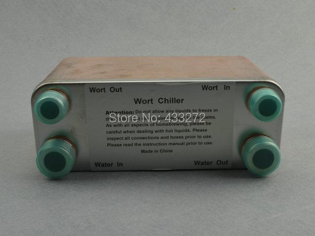 "Stainless Plate Wort Chiller plate heat exchanger- 40 plates Brewing Chiller, 1/2""male BSP X 3/4"" male Garden hose Thread(China (Mainland))"