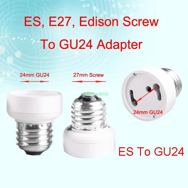 EB3397 E27 TO GU24 FEMALE LIGHT CONVERTOR SOCKET EDISON SCREW BULB ADAPTER HOLDER BASE(China (Mainland))
