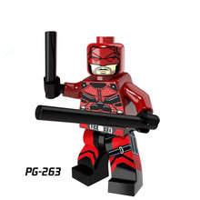 Legoings traje de Super-heróis da marvel Vingadores montado dupla-face morte atirador brinquedo da Marvel The Evengers(China)