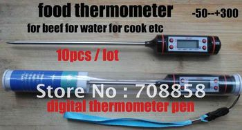 Digital Thermometer, for kitchen cooking food meat, test milk,  temperature 10pcs/lot free shipping