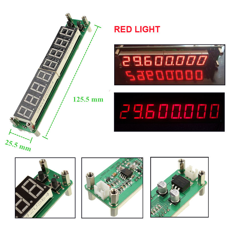 """Hot Sale LED Displays 0.1MHz~1000MHz digital Frequency counter meter tester Cymometer 8 digits 0.56""""LED display Auto Channel(China (Mainland))"""