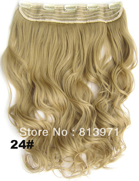 Hair Factory Sale Womens Heat Resistant Hairpiece Synthetic Hair Clip in on Hair Extensions Wavy Curly Hair #24 Free Ship<br><br>Aliexpress