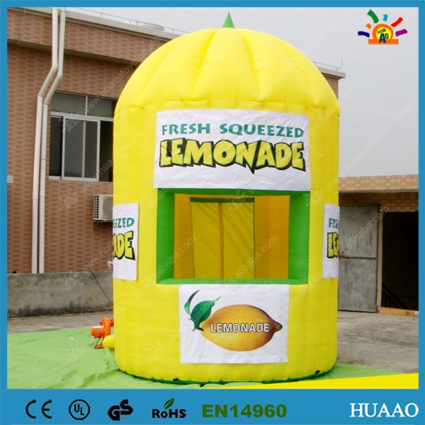 Hot sale Outdoor Camping Tent Kiosk Inflatable Lemonade Booth with Free Banners and CE blower(China (Mainland))