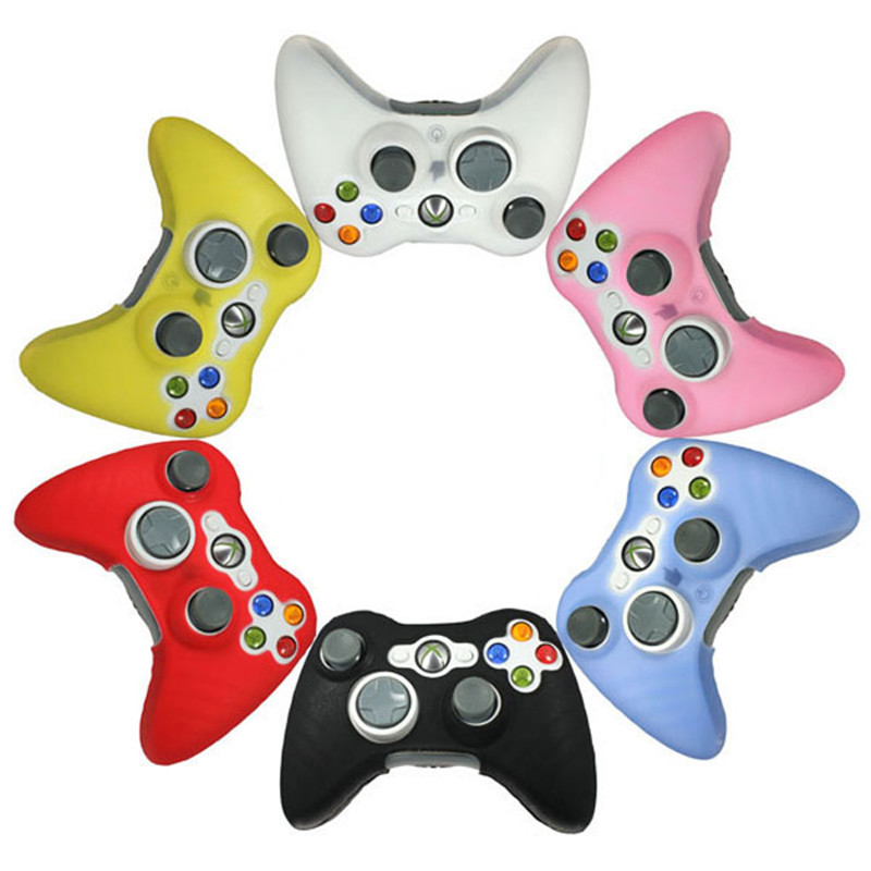 Hot Selling! 1 PCS New Quality Soft Silicone Rubber Protective Skin Case Cover For Microsoft for XBOX 360 Game Controller #Jan4(China (Mainland))