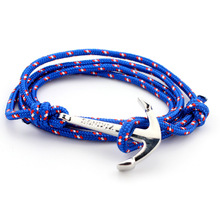 Retro Miansai Bracelets Fashion Jewelry 40cm Leather Bracelet Men Anchor Bracelets For Women Best Gift silver plated