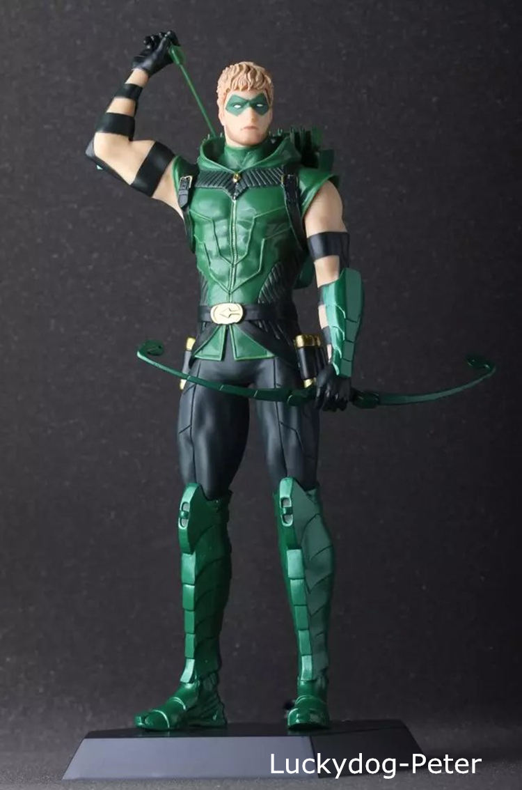 Green Arrow Action Figure 1/5 scale painted figure Justice League Green Arrow Doll PVC ACGN figure Garage Kit Brinquedos Anime(China (Mainland))