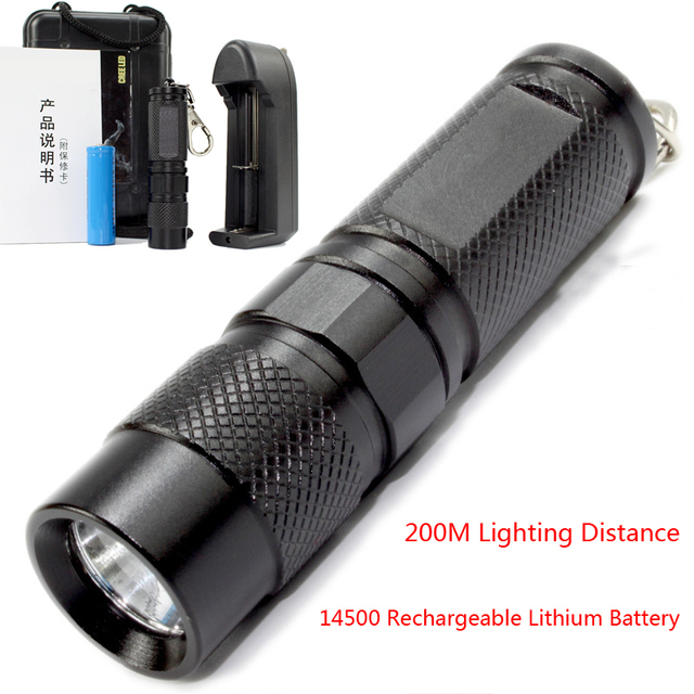 high quality 8cm mini led flashlight 3 files 14500. Black Bedroom Furniture Sets. Home Design Ideas