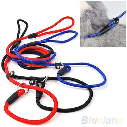 Pet Dog Nylon Rope Training Leash Slip Lead Strap Adjustable Traction Collar(China (Mainland))
