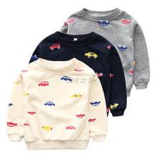 2015 New style Boys Hoodies Kids Long Sleeve T-shirt Children Sport Hoodies Boys Fashion cartoon cars Tops(China (Mainland))