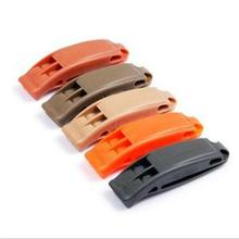 Tactical Double-frequency Whistle Outdoor Emergency Survival Lifesaving Whistle Sports Competition Cheerleading Cheering Whistle(China (Mainland))