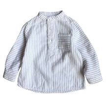 2016 New Arrival Spring Baby Blouse Boys Shirts 100% Cotton Long Sleeves Infant Tops Kids Striped Shirt Children's Clothing