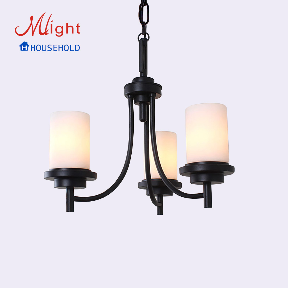 European Style Leron Art Lamp New Traditional Chandelier Three Arms Milk Body Glass Living Room Lamp<br><br>Aliexpress