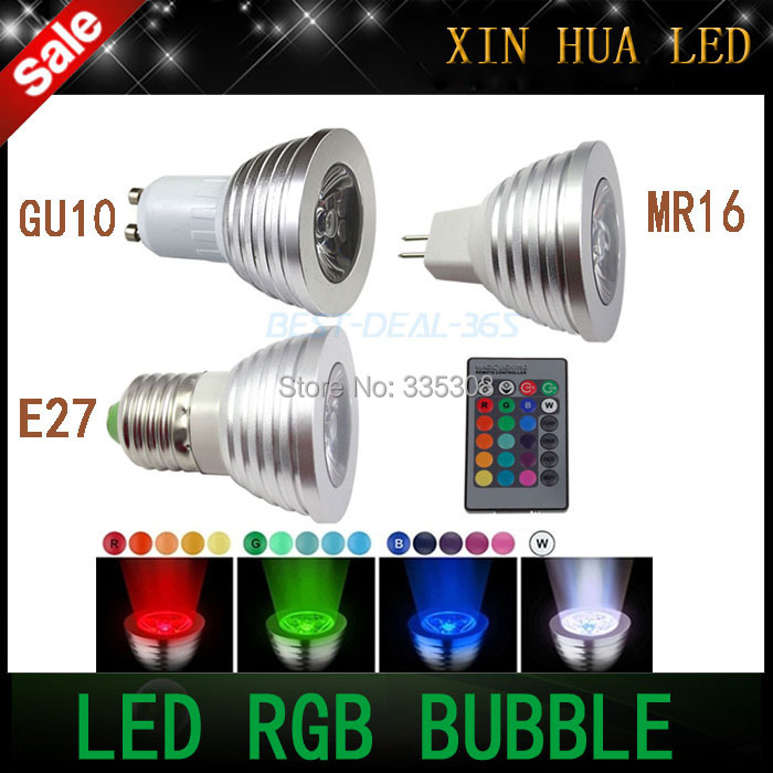 New arrival  9W  E27 GU10 MR16 RGB Color Led Flash Light Bulb Bombillas Lamp with Remote Control multiple colour led lighting(China (Mainland))