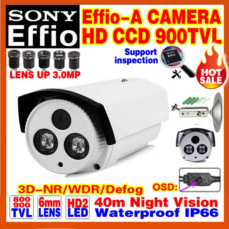 Discount Hd Sony CCD Effio Surveillance Camera 800/900TVL Analog 960 Outdoor Waterproof IP66 Infrared Night Vision Video Bracket(China (Mainland))