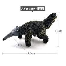 Simulação da floresta selvagem modelo animal one piece Texugo Wolverine Tamanduá Castor Urso toy PVC action figure estatueta Presente Para As Crianças(China)