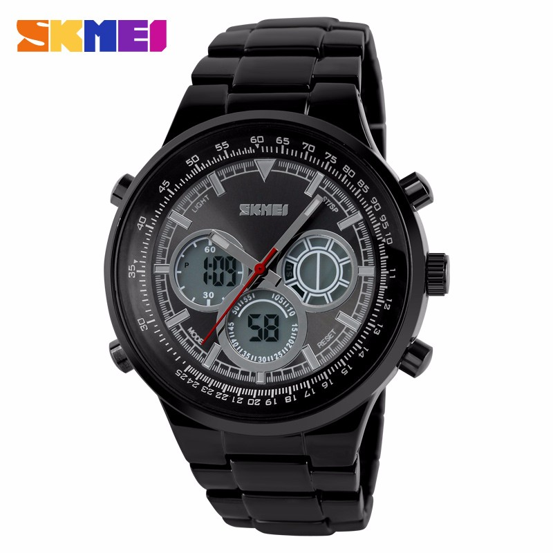 SKMEI 1031 50M Waterproof Watches Men Luxury Brand Digital-Watch Men Electronic Watches LED Wristwatches Stainless steel Clock<br><br>Aliexpress