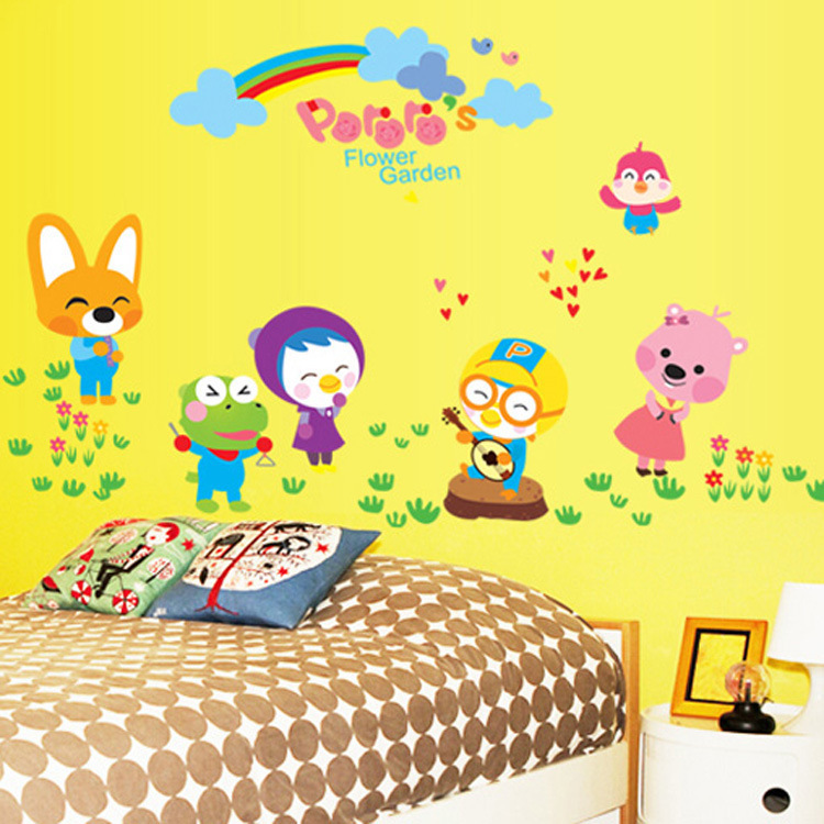 Cartoon Bedroomchildrens Bedroom Cartoon Decoration For Walls