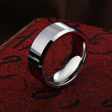 tungsten ring Will not fade Tungsten Carbide ring fashion Male ring for men Hardness greater than knife(China (Mainland))