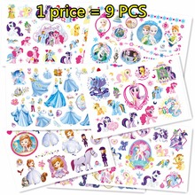 Buy SHNAPIGN 9 pcs/lot Pony Princess Temporary Body Arts,Flash Tattoo Stickers 17*10cm,Waterproof Children Loves Toy Tatoo Stickers for $4.46 in AliExpress store