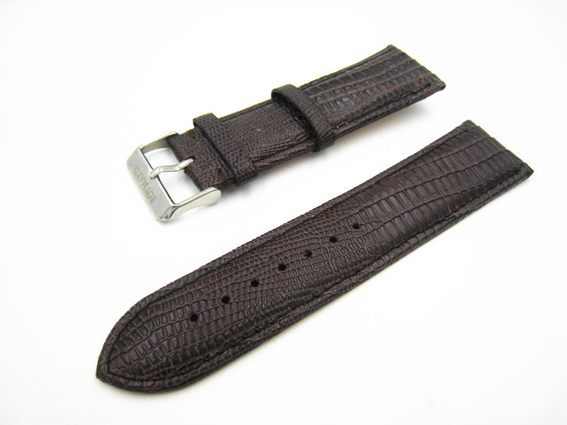 24mm high-quality handmade Brown Genuine Leather watch strap band+tools+adapter + Clasp free shipping AA13-2(China (Mainland))