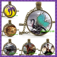 New Stunning 19 Style Dragon Necklace Handmade Dragon Jewelry Long Photo Necklace Charm Fantasy Blue Dragon Jewelry