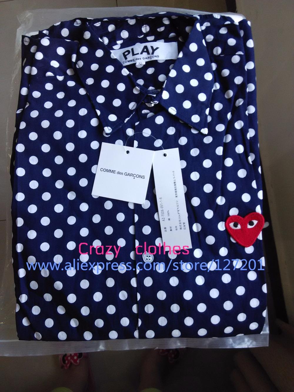 Blue Polka Dot Shirt Men Polka Dot Men's