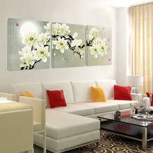 Canvas painting on print flowers Painting the wall  bedroom and  Painting the livingroom sofa backdrop  posters and prints(China (Mainland))