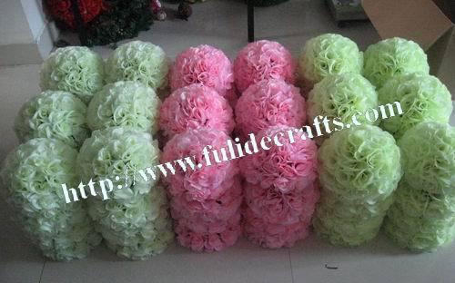 20cm rose ball wedding kissing flower ball decoration,8pcs/lot,celebration flower decoration ball,party decoration 20 colors(China (Mainland))