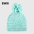 2015 Woman winter hats Beanie girl harajuku caps Coarse lines hand crocheted acrylic fiber wool hat