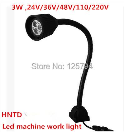 Free shipping 3W 24V HNTD machine work lights LED soft Flexible light bar Milling Light Waterproof