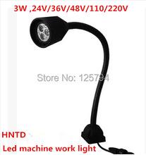 Free shipping 3W 24V machine work lights LED soft Flexible light bar Milling Light Waterproof CNC