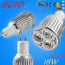 Buy Nwe Super Bright 3x6w 18W GU10 LED Bulb Spot Light Lamp 110V 220V 12v Dimmable GU10 E27 MR16 Recessed Lighting Warm Cold White for $4.26 in AliExpress store