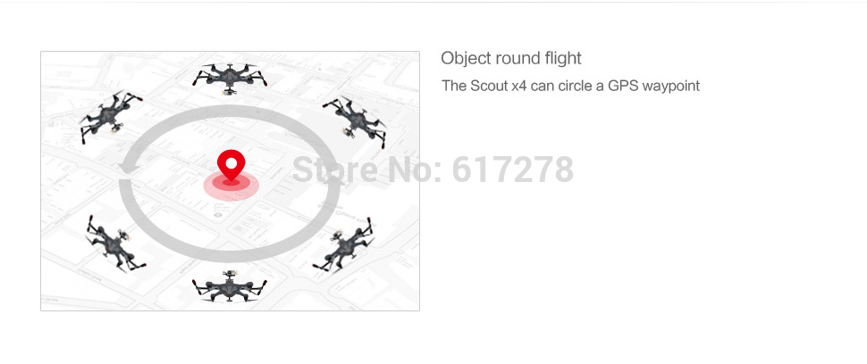 2016 Walkera Scout X4 GPS Drone with camera HD ILook plus