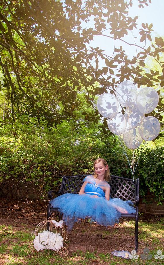 Скидки на 2-10 Т Короткий стили Симпатичные Золушка платье Принцессы Платья для девочек/Рождество Дети одежда с Голубой Свадьбы платья