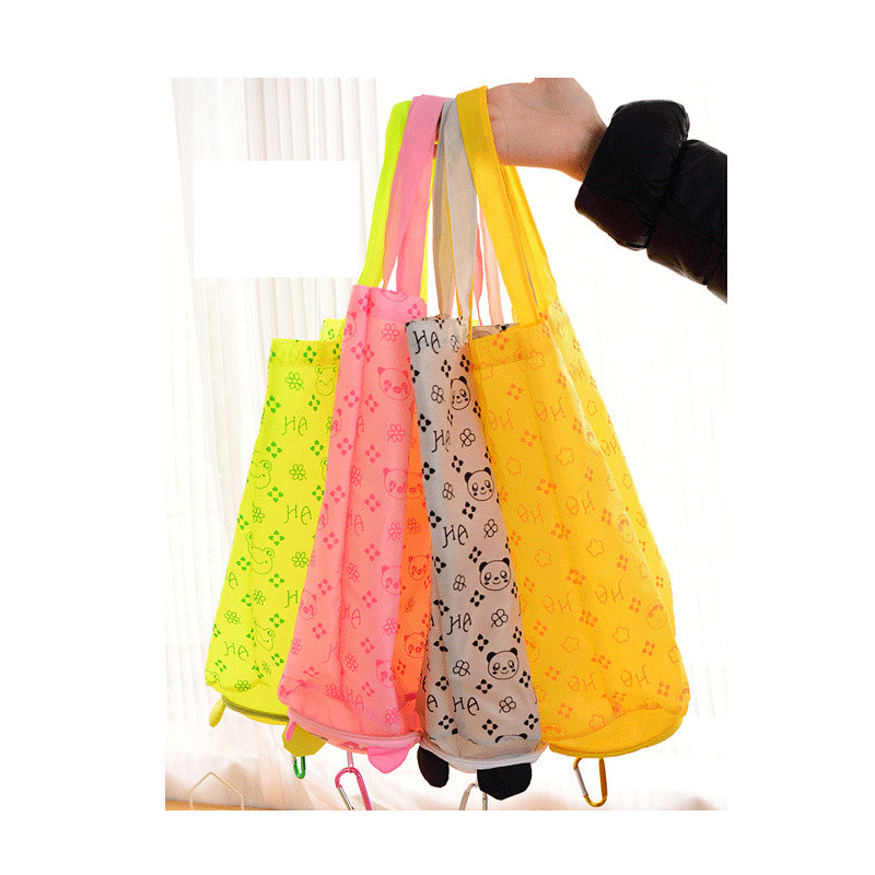 Japanese Cartoon Animal Shopping Bag Folded Bags Portable Fashion Waterproof Cheap Bags SG03(China (Mainland))