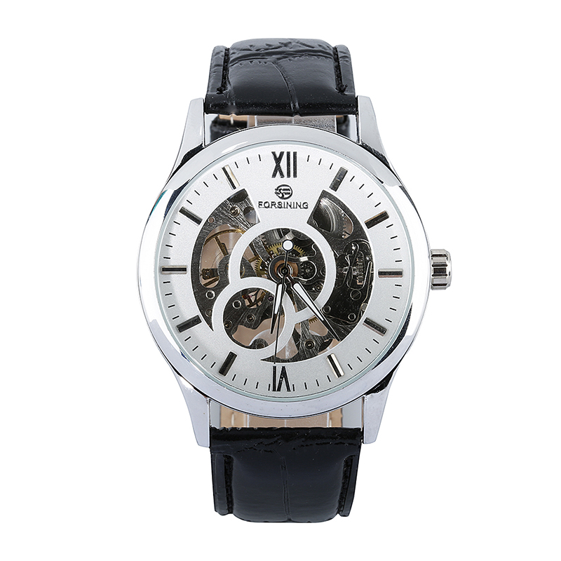 FORSINING Luxury Men Watches Hand-winding Mechanical Men Top Brand Military Watch Leather Band Relogio Masculino<br><br>Aliexpress