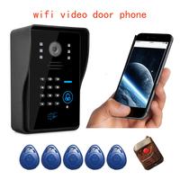 DHL free shipping IR Night Cellphone Vision Doorphone wifi Video Door Phone Wireless Intercom Wifi Doorbell