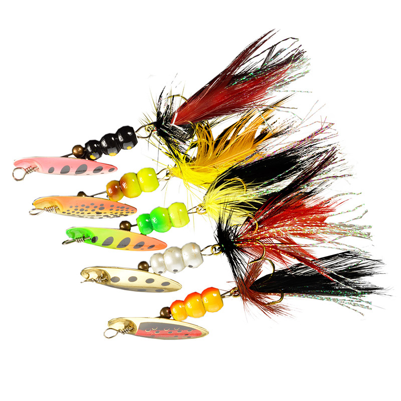 Free shipping selling pesca 2g/4g/6g spinner bait bass baits metal spoon lure spinner lure fishing lures 5pcs/lot(China (Mainland))