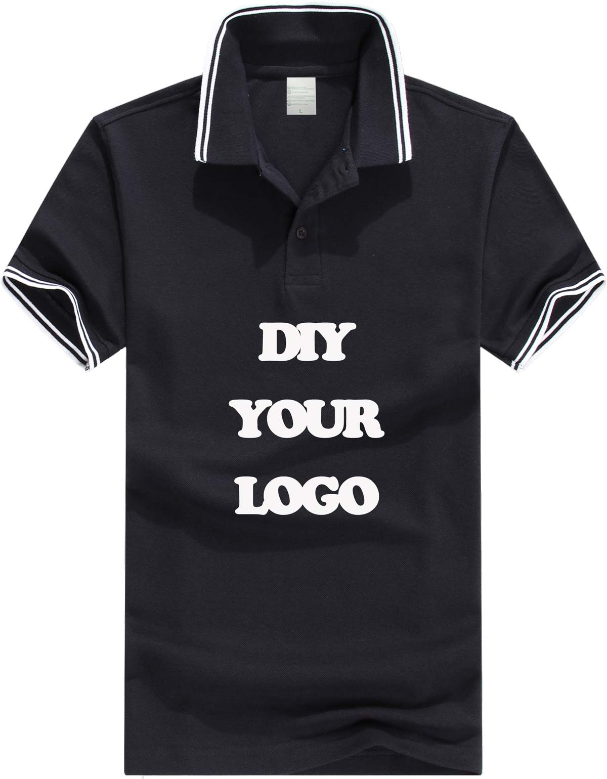 100 180g pique cotton men polo shirt personalized logo for Shirts with custom logo