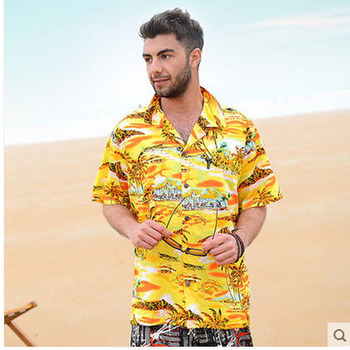 Brand New Mens Hawaiian Shirt Casual Short-Sleeved Loose Floral Cotton Beach Shirt For Man High Quality Camisa Masculino J58