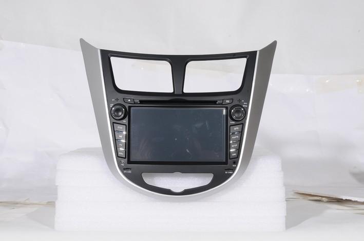 Car DVD Player for Hyundai Verna Accent I25 Solaris Grand Avega 2010 2011 with GPS Bluetooth free Russia Navitel gps map