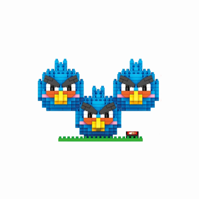 The Flying Birds Diamond Building Blocks Fun Toys Model Cartoon Game Characters The Blues Best Gift For Children Mini Bricks(China (Mainland))