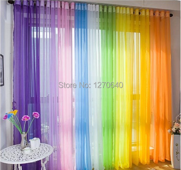 Colorful drapes curtains