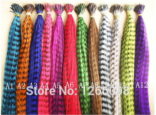 120pcs 24 colors Grizzly & Solid Colors Feather Hair Extensions with free beads & hook(China (Mainland))