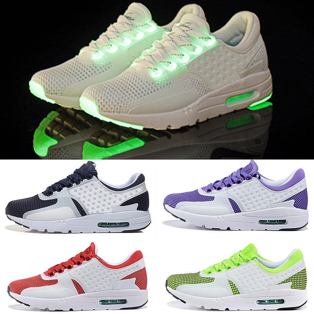 2015 New ZERO 87 Men's & Women's luminous Running sport shoes run Oreo 2 mAxed Sneakers shoes Eur 36-46 black White(China (Mainland))