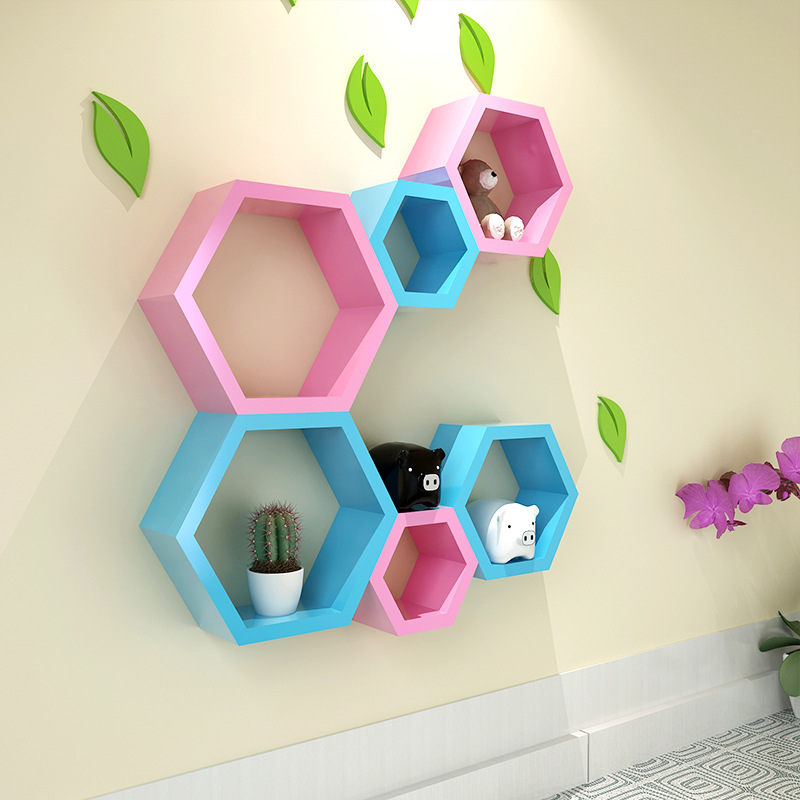 Popular hexagon shelf buy cheap hexagon shelf lots from for Decoration murale hexagonale