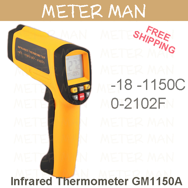Free Shipping 50:1  Palm Size Portable 1150 degree  IR Meter Infrared thermometer GM1150A<br><br>Aliexpress