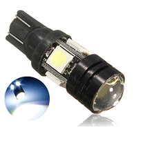 White Aluminum DC 12V T10 2.5W 180LM 4 SMD 5050 LED Auto Car Light High Power Car LED Lamp  1PC(China (Mainland))